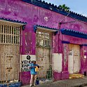 slides/IMG_6715.jpg street, view, building, colour, color, window, grate, downtown, centro, cartagena, colombia A63 - Street in the Centro - Cartagena - Colombia