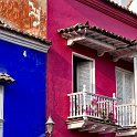 slides/IMG_7025.jpg street, view, building, colour, color, window, grate, balcony, architecture, colonial, downtown, centro, cartagena, colombia A67 - Street in the Centro - Cartagena - Colombia