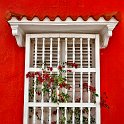 slides/IMG_7282.jpg detail, red, colour, color, window, grate, architecture, colonial, downtown, centro, cartagena, colombia A72 - Detail in the Centro - Cartagena - Colombia