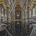 slides/IMG_7355PH.jpg salisbury, cathedral, church, Blessed Virgin Mary, architecture, nave, column, perspective, decoration, stained, window, baptismal, font, reflection, HDR, panorama Baptismal Font and Nave, Cathedral Church of the Blessed Virgin Mary, Salisbury